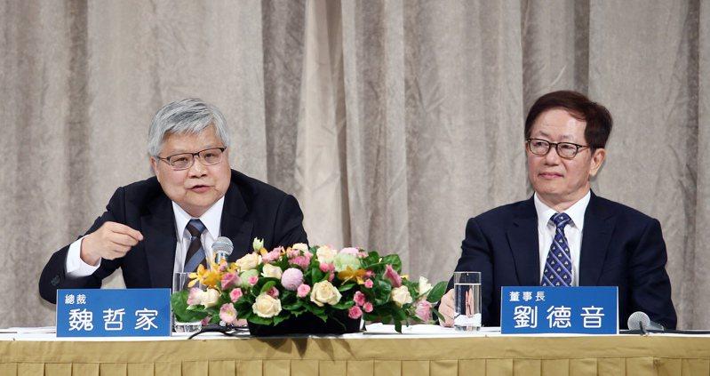 台積電董事長劉德音與總裁魏哲家去年年薪成長四成四,達到四點二二億元,較前年增加一點二九億元。本報資料照片