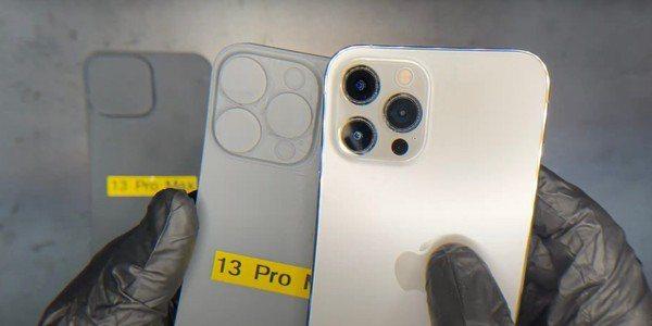 有外媒釋出iPhone 13 Pro Max的打印模型和渲染圖,預測前鏡頭會比iPhone 12大。圖擷自9to5mac