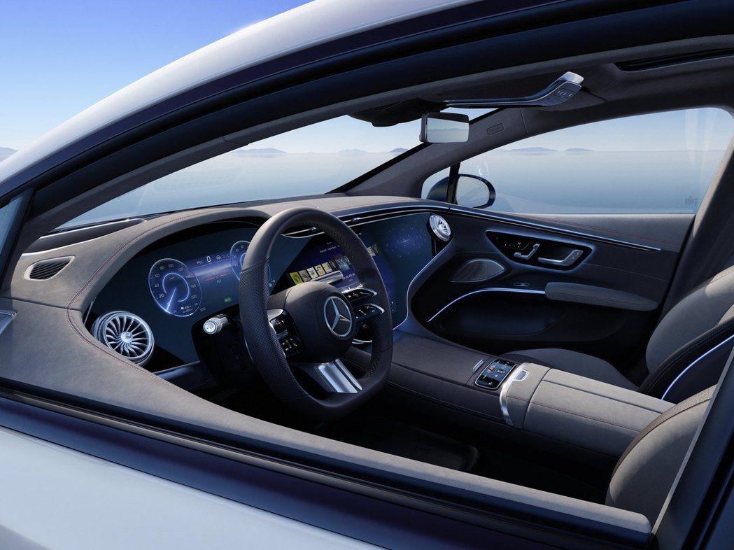 EQS新世代Hyperscreen內裝鋪陳。 圖/Mercedes提供