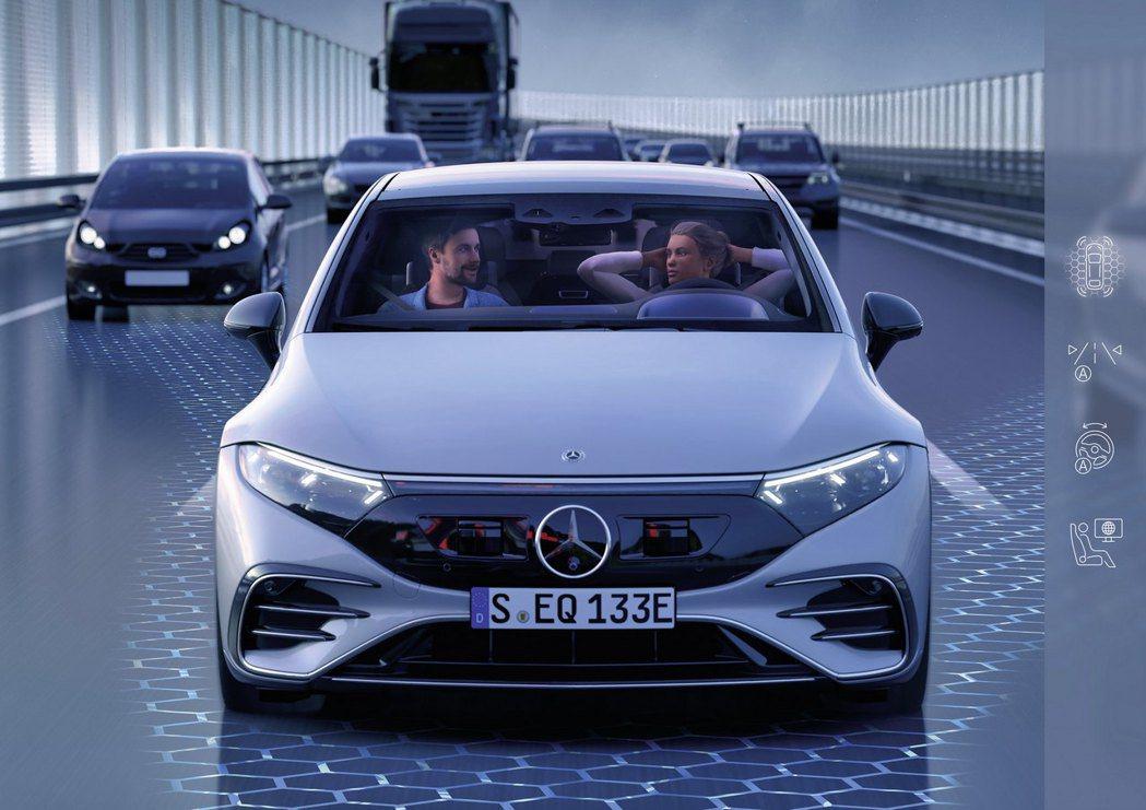 德國能選配DRIVE PILOT系統,在滿足特定條件下,能以60 km/h的速度...