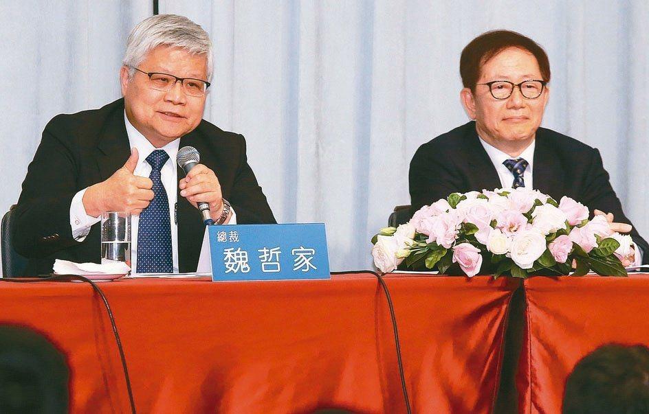 台積董座劉德音(右)與總裁魏哲家。(本報系資料庫)