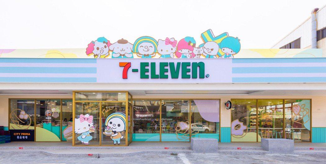 台南首間「OPEN! X Sanrio三麗鷗聯名主題店」夢幻登場。 7-ELEV...