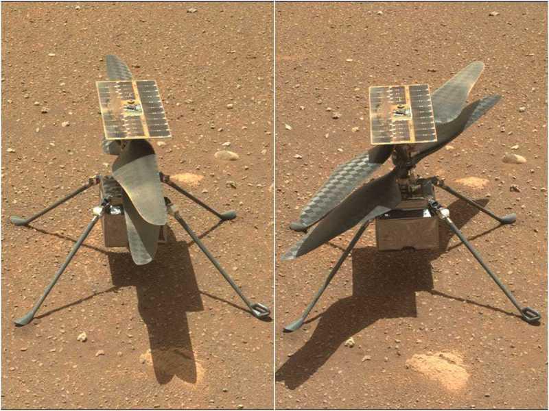 美國國家航空暨太空總署(NASA)表示,「創新號火星直升機」最快可望於19日首度飛行火星。 NASA/JPL-Caltech