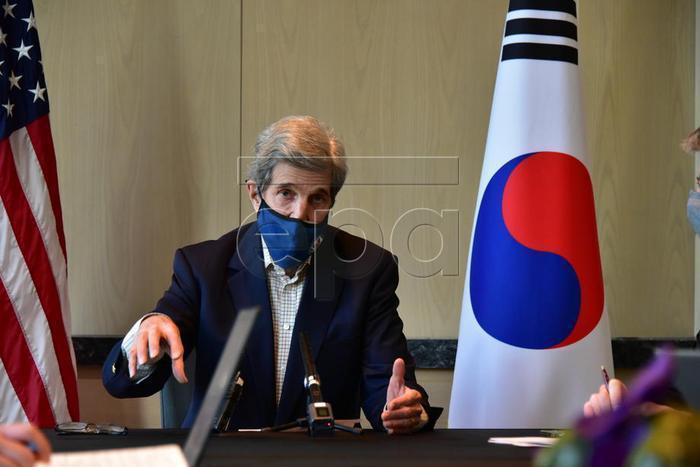 美國氣候特使柯瑞(John Kerry)。 歐新社