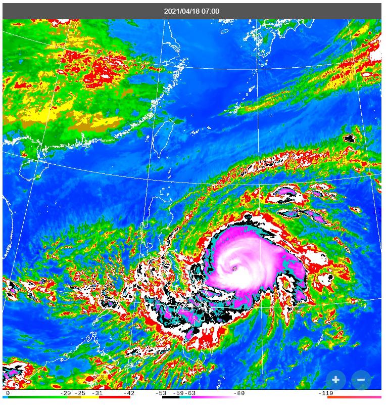 舒力基颱風。圖/取自氣象局網站