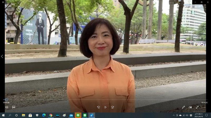 立法委員何欣純被問到對林佳龍是否會回鍋參選下屆台中市長的看法時,特別慎重的拍了影片回應。圖/翻攝自何欣純影片