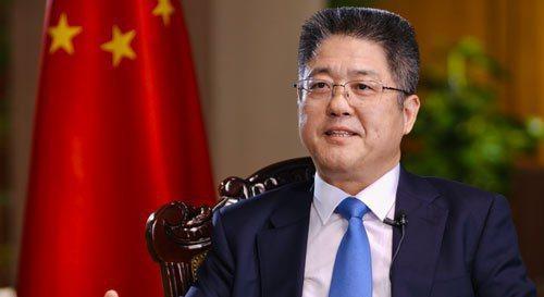 大陸外交部副部長樂玉成。新華社