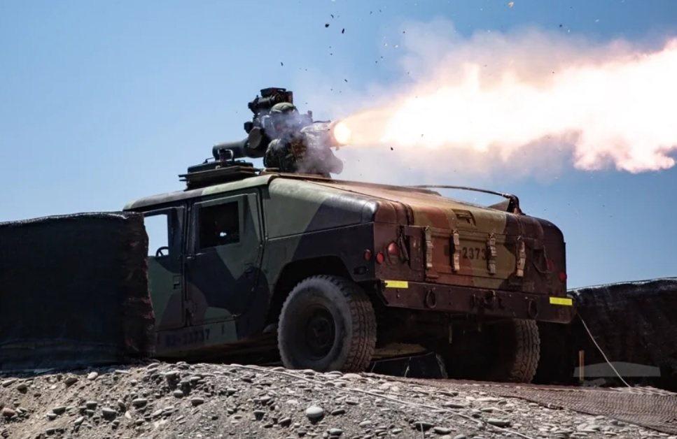 陸軍現役拖式飛彈。圖/軍聞社