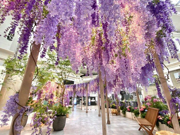 台北101紫色秘境花園。圖/台北101提供