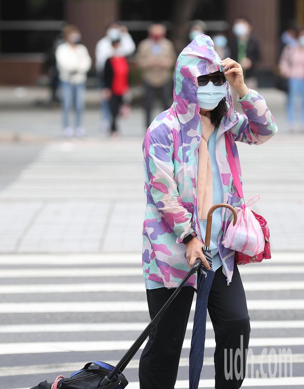 舒力基維持強颱等級,台北市區民眾也明顯感受到陣陣強風吹襲。記者葉信菉/攝影