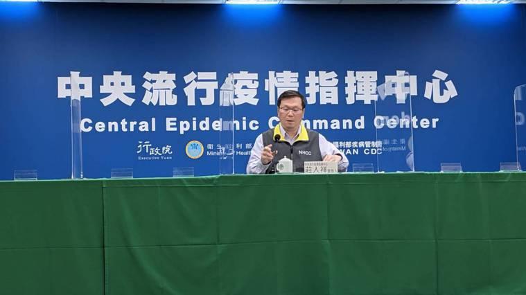 莊人祥說,今天新增一例境外移入新冠肺炎確定病例。記者邱宜君/攝影
