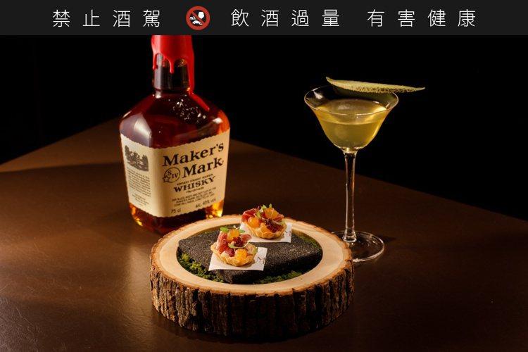 美格風味特調:舌尖上的極光 Feat. 哈密瓜雪莉火腿塔。 圖/台灣三得利提供。...