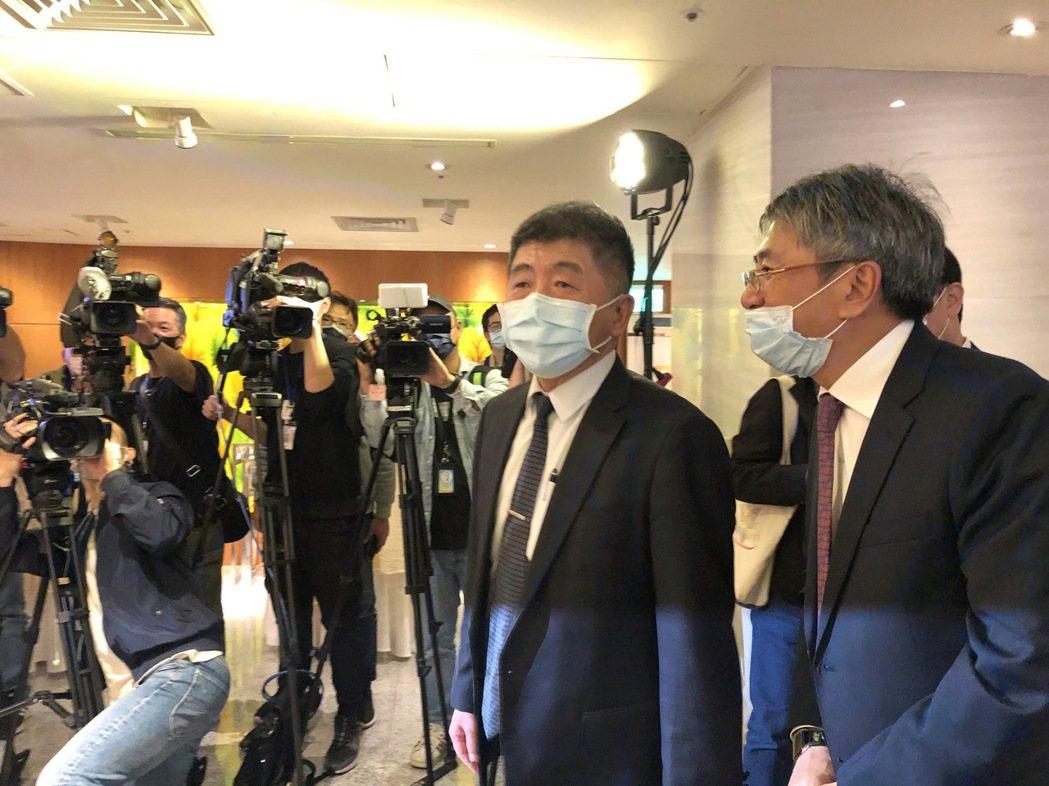 衛福部部長陳時中回應8月28日反萊豬公投議題。記者黃惠群/攝影
