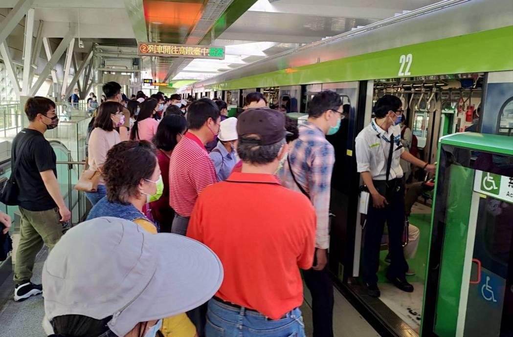 台中捷運首次面對地震,停車後再降速巡檢,10列車受影響。圖/台中捷運公司提供