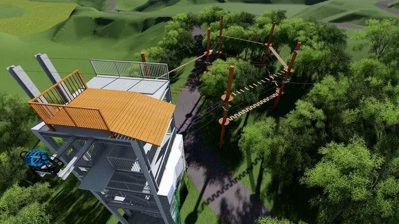 「飛躍叢林體驗設施」模擬圖。圖/高雄市政府觀光局|高雄旅遊網