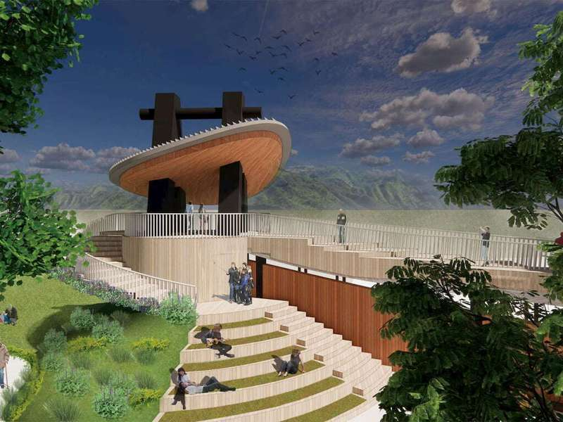 吊橋橋塔模擬圖。圖/高雄市政府觀光局|高雄旅遊網
