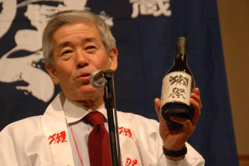 櫻井博志當年為拓展東京等大都會的市場,推出新的酒種「獺祭」,大受歡迎,成為舉世聞名的日本酒。圖/取自旭酒造臉書