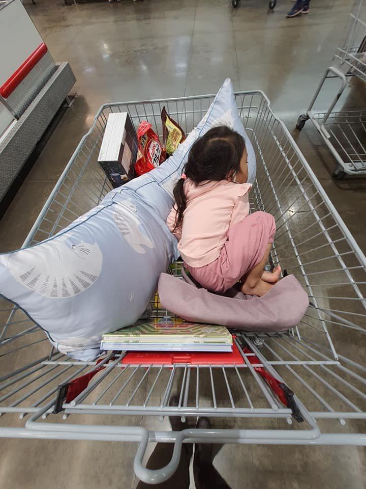 一名網友分享去好市多採買,意外買到一顆讓孩子「秒睡」的枕頭,引起網友熱議。圖/取自FB社團「Costco好市多 商品經驗老實說」