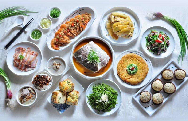 珠蔥食憶無菜單料理,2人成行,依人數提供主菜道數。圖為5人份。 台北凱撒/提供