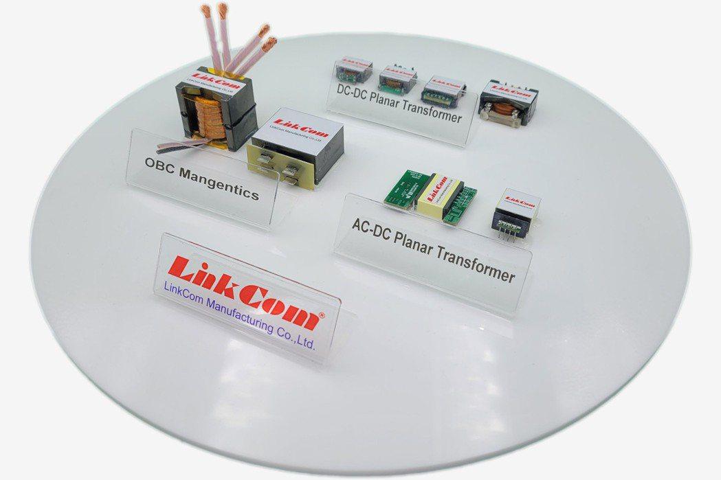 聯寶電子新產品平板變壓器與OBC電源管理模組。 聯寶電子/提供