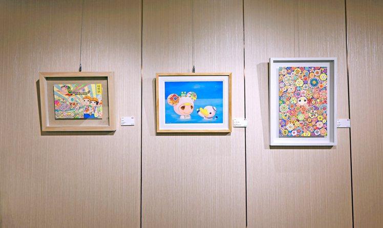 可樂王作品,由左至右:「蜻蜓號」、「送你一顆小星星」、「花之頌歌」。圖 / 高登...