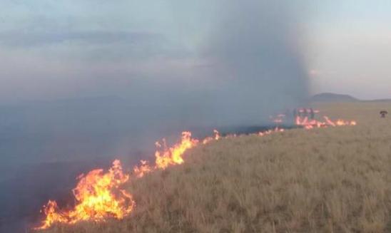 蒙古國的蘇赫巴托省達里崗嘎縣日前發生草原大火,今日凌晨已蔓延至大陸境內。央視新聞