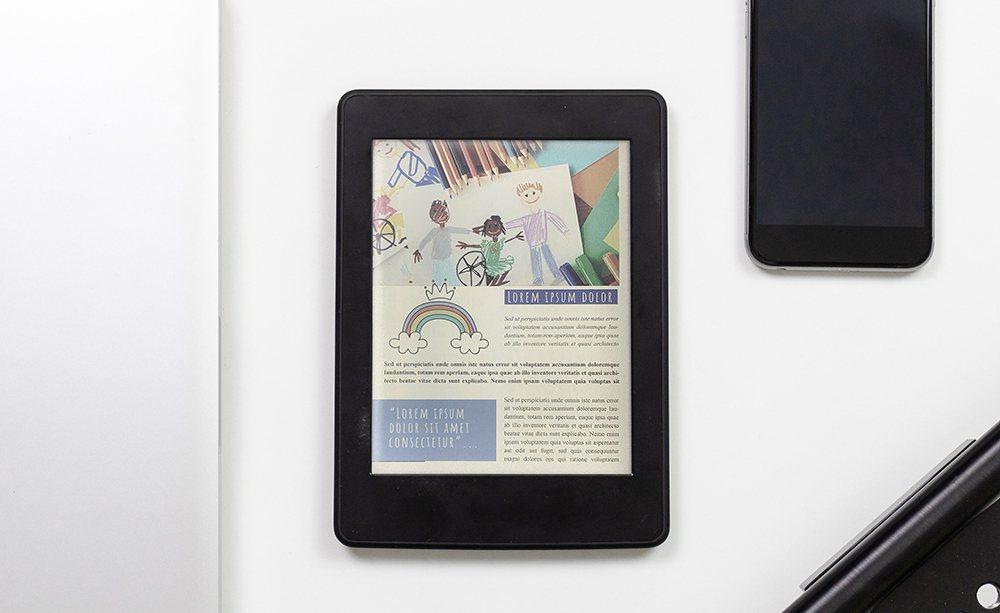 E Ink Kaleido™  Plus色彩溫潤適合用於教科書、圖表與彩色漫畫等...