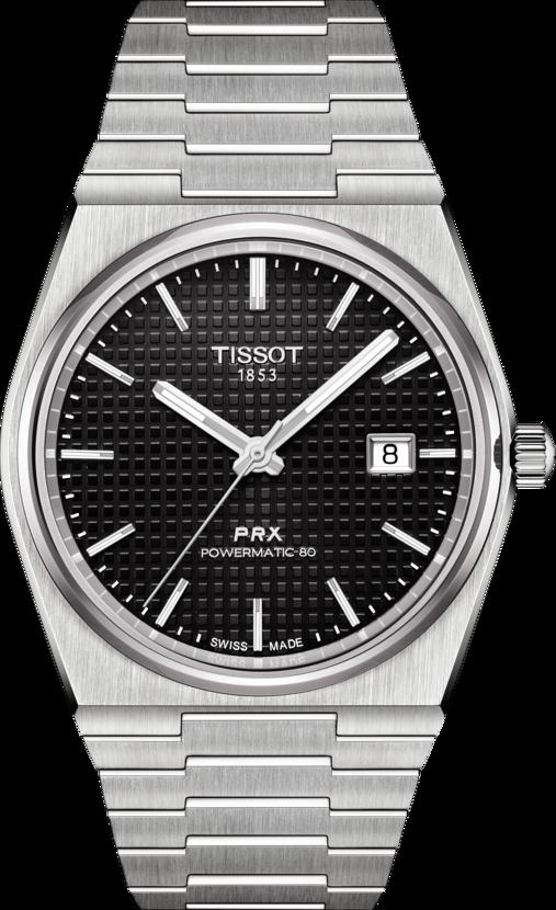 天梭表PRX 40 205系列自動上鍊腕表,精鋼表殼、表鍊,搭載Powermat...