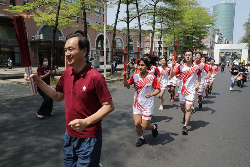 全大運聖火點燃與升空儀式,今天在成功大學舉行。圖/台南市政府提供