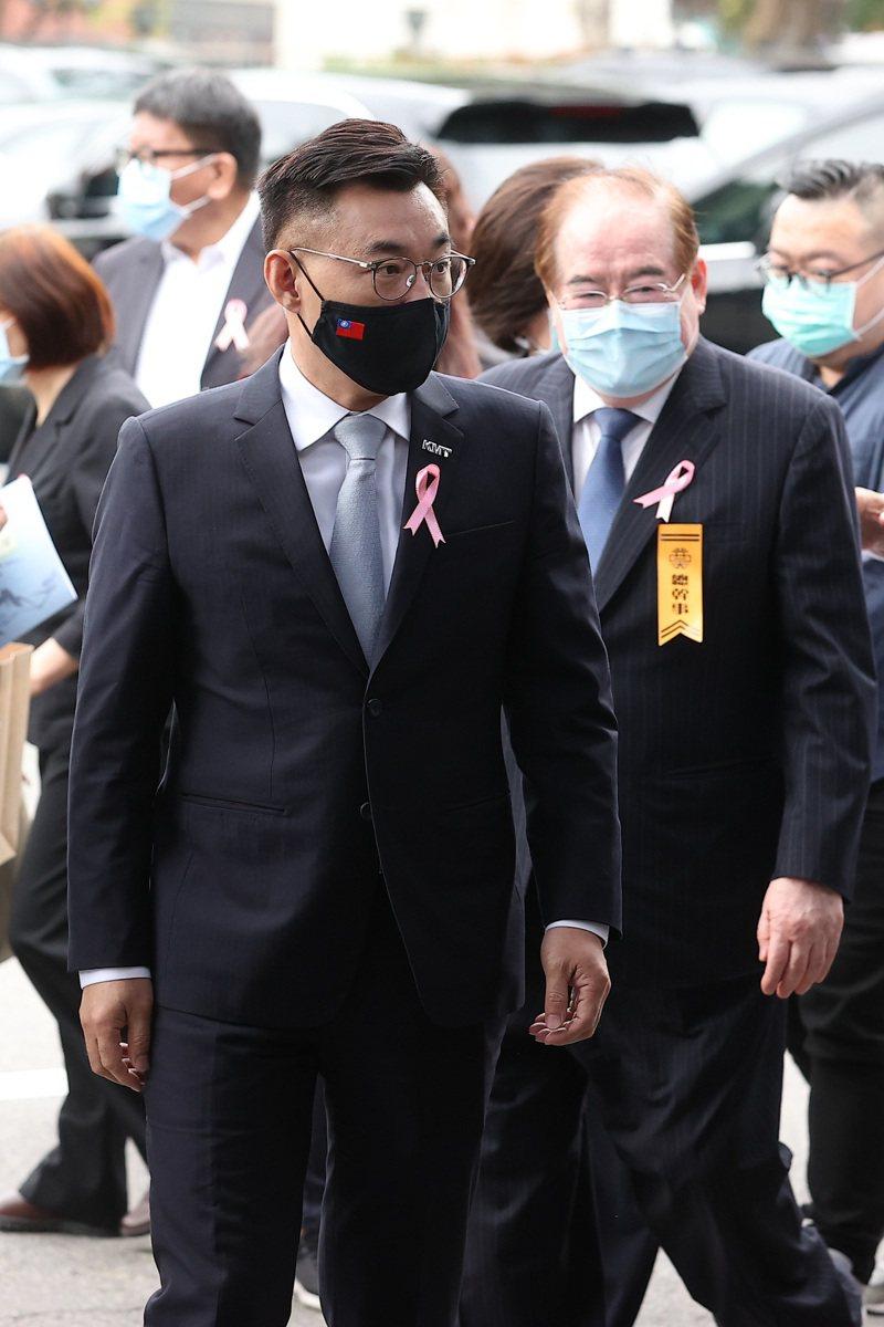 考試院前院長許水德下午舉行告別式,國民黨主席江啟臣出席。記者季相儒/攝影