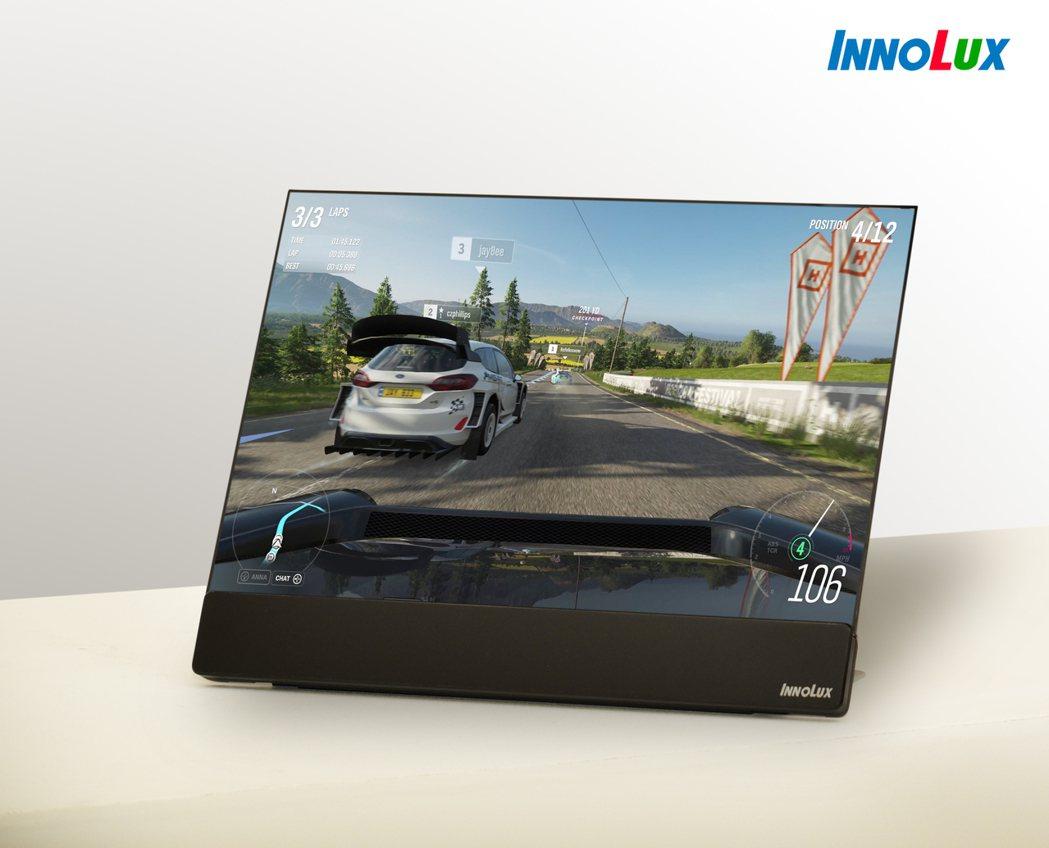 群創16吋WQXGA高解析度窄邊框Mini LED背光電競筆電面板,具備高刷新頻...