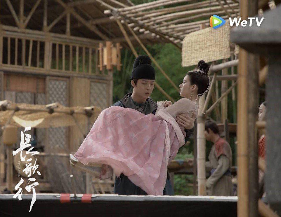 趙露思(右)、劉宇寧在「長歌行」中的「皓嫣CP」感情線發展受矚目。圖/WeTV海...