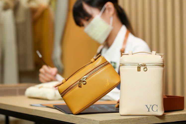 Loro Piana首度於台灣推出Extra Pocket系列的個人化彩繪服務。...