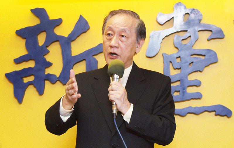郁慕明今天接受本報專訪,表示下一步將會訴諸新黨黨員「到我們這裡登記」,他並未否認「另立黨中央」的說法。圖/聯合報系資料照片
