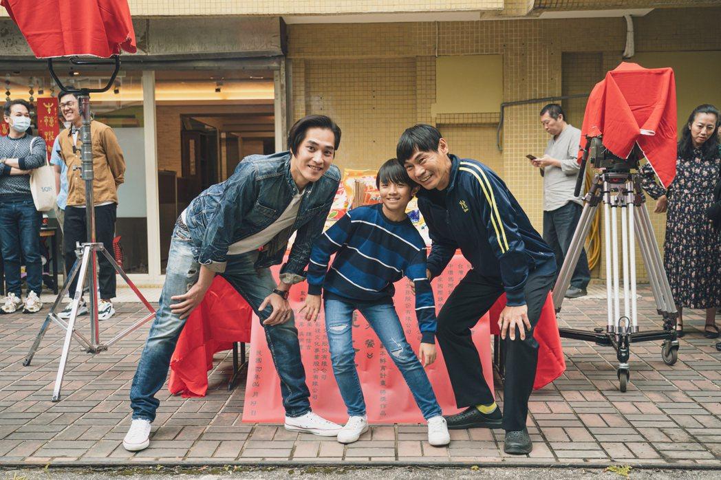 藍正龍(左起)、阮柏皓、夏靖庭主演奇幻家庭兒童劇「中元大餐」。圖/紅衣小女孩股份