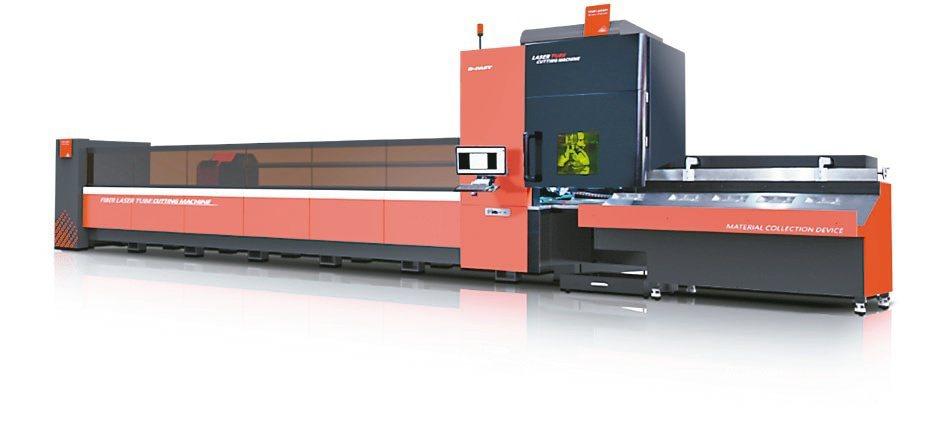 百超迪能DNE除發表高瓦數鈑材光纖切割機,更發表光纖鐳射切管機。業者/提供