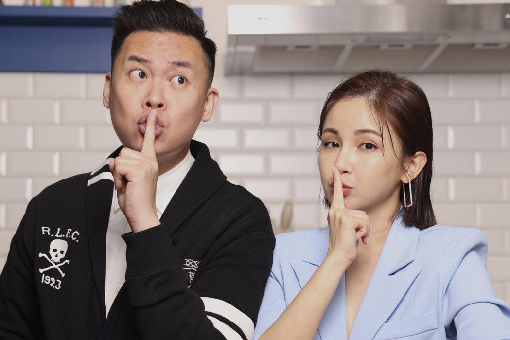 孫樂欣(左)和鍾欣怡育有一子一女,婚姻邁向第7年。記者王聰賢/攝影