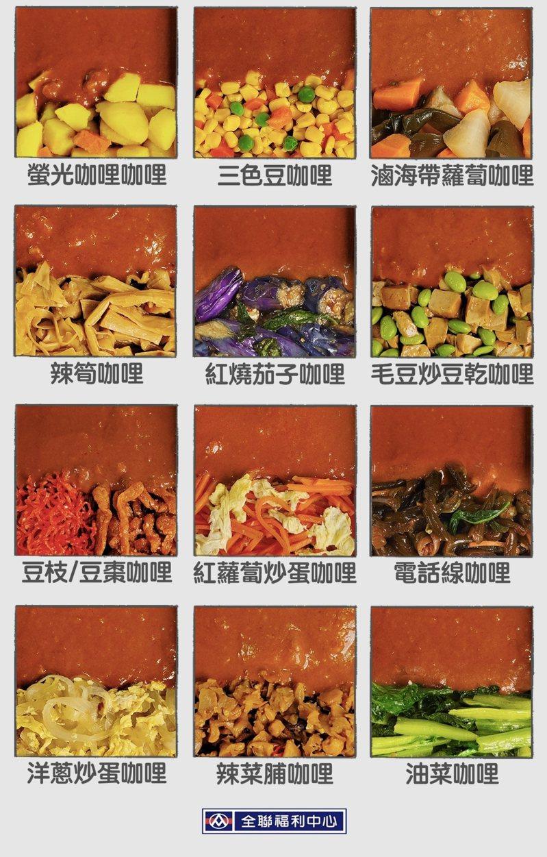 全聯小編挑戰咖哩搭配「12道難吃便當配菜」,最後仍敗在「三色豆」上。圖擷自全聯福利中心
