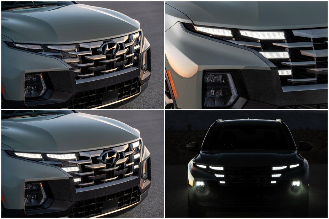 全新Hyundai Santa Cruz車頭設計與新世代Tucson雷同。 摘自...