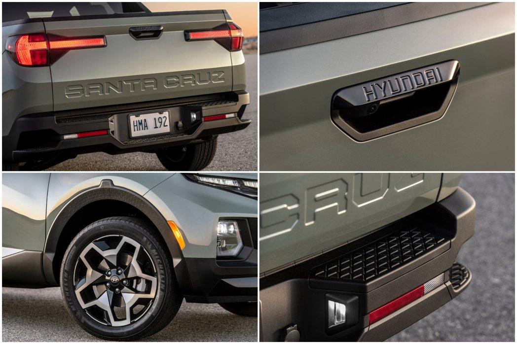 全新Hyundai Santa Cruz可選擇18吋或20吋鋁圈。 摘自Hyun...