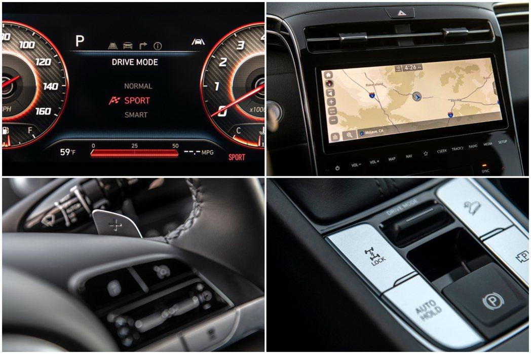 全新Hyundai Santa Cruz內裝格局及配置,皆與新世代Tucson相...