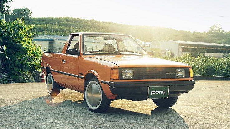 已停產多年的Hyundai Pony Pickup。 摘自Hyundai