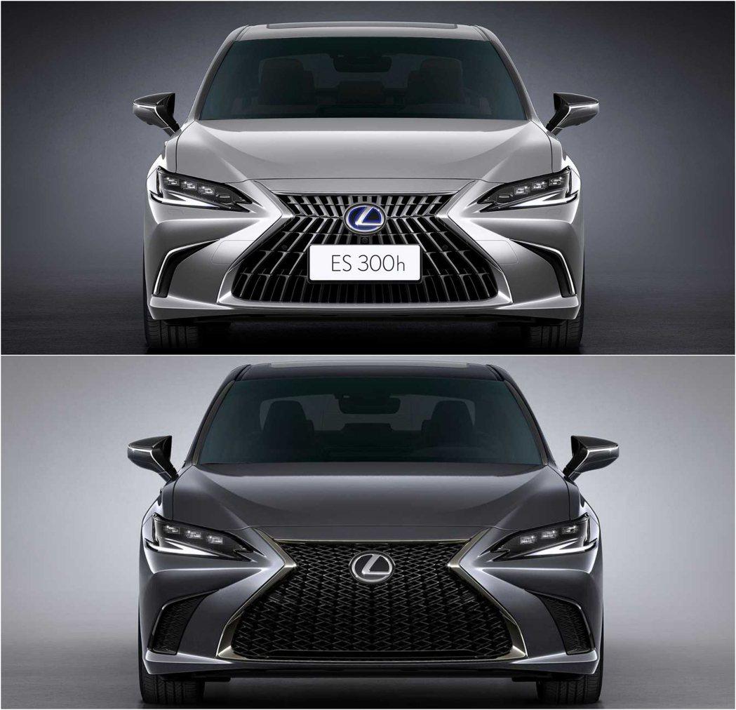 Lexus ES上:一般車型,下:F SPORT車型。 圖/Lexus提供