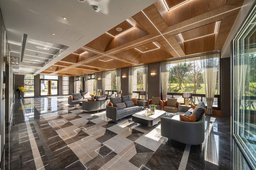 一樓住戶專屬VIP會館,引援建築大師柯比意設計概念,低調奢華中帶出五感共鳴的生活...