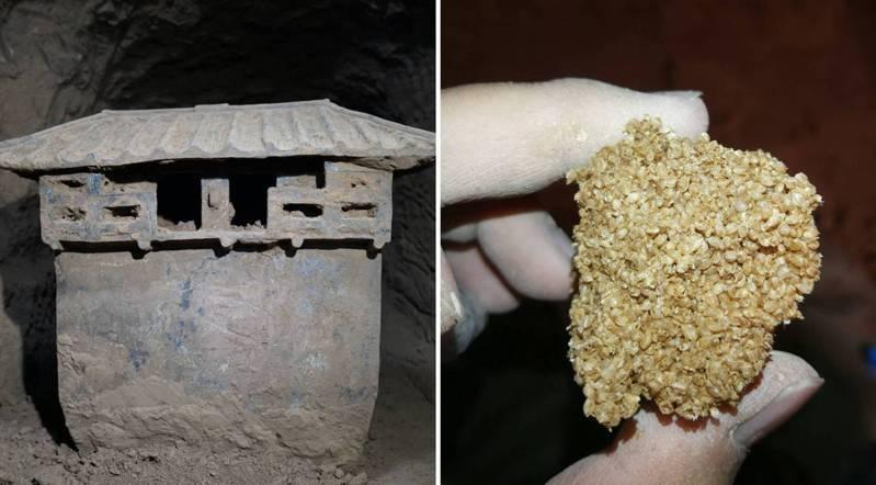 陝西省最近在西安大堡子墓地發現一座保存完整的西漢早期墓葬。 中新社