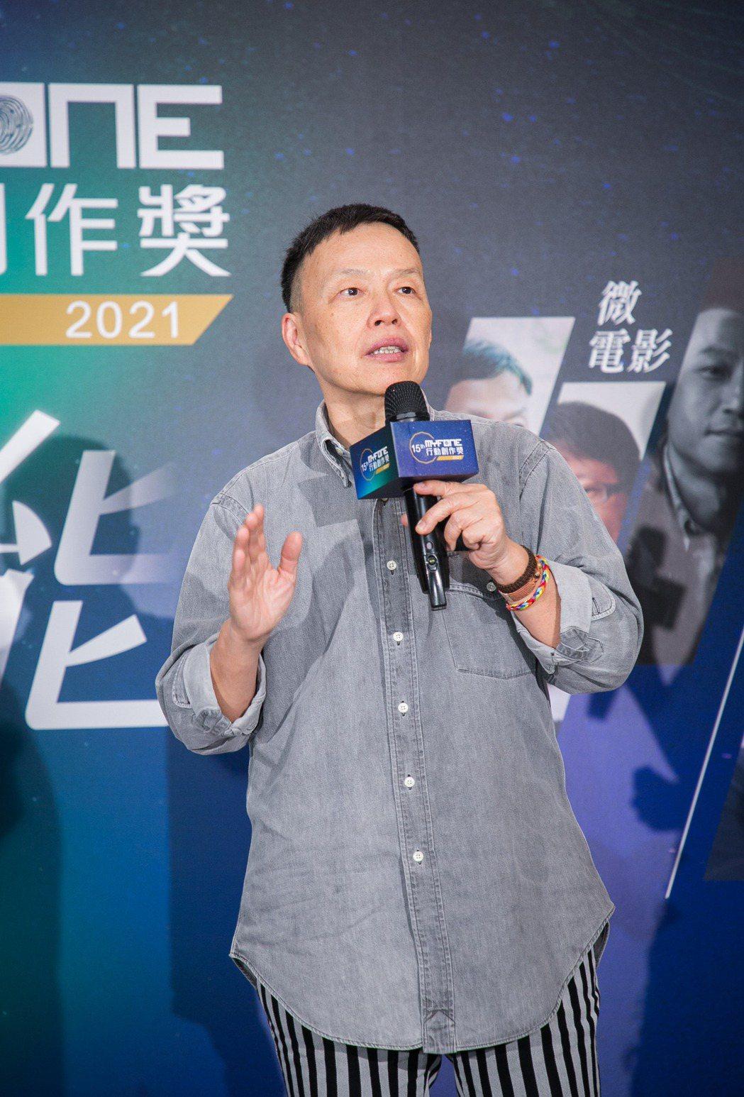 「微電影組」評審王小棣老師。台灣大/提供
