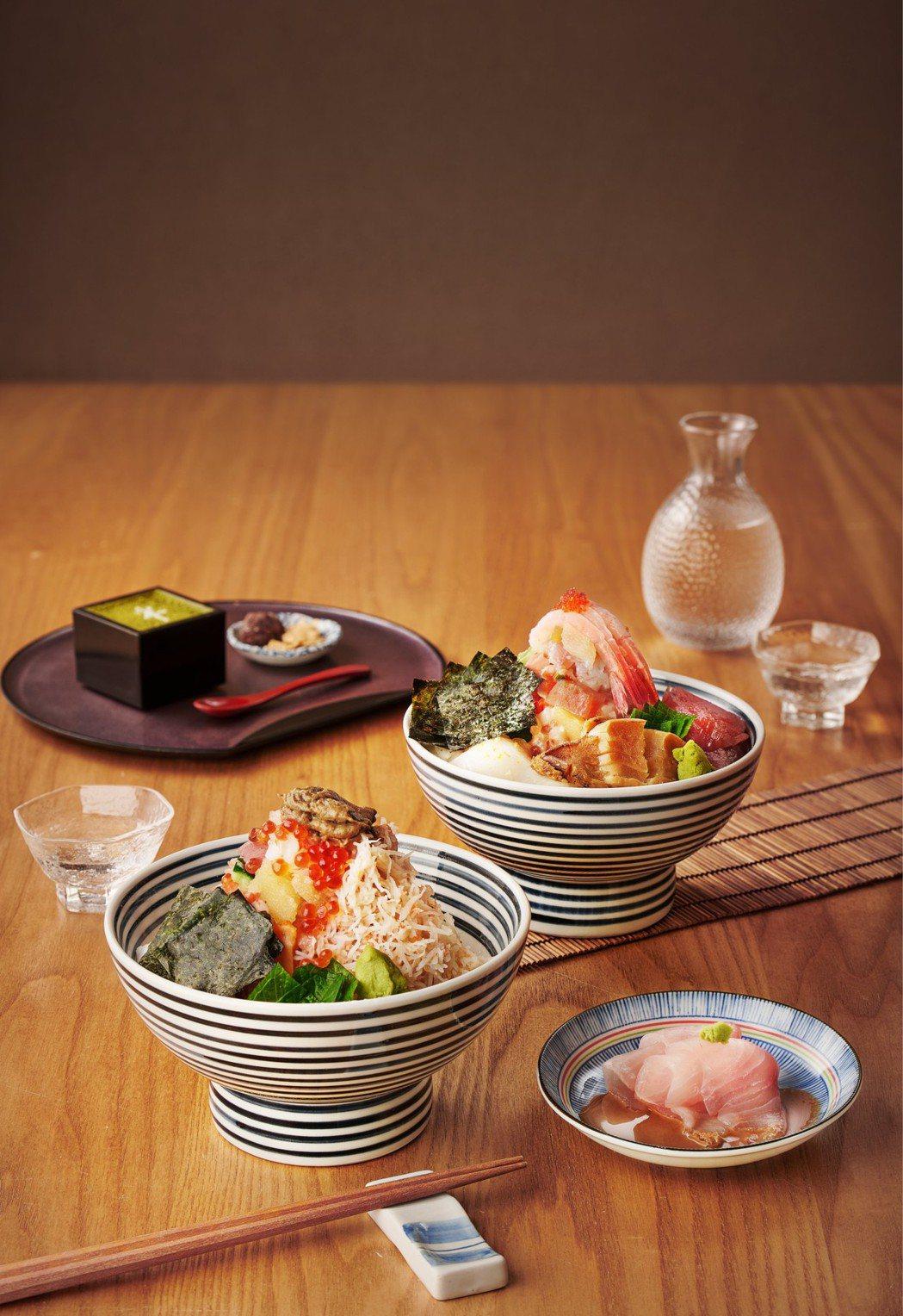 日本橋海鮮丼辻半新推出「雪」與「旬」兩款套餐。圖/日本橋海鮮丼辻半提供