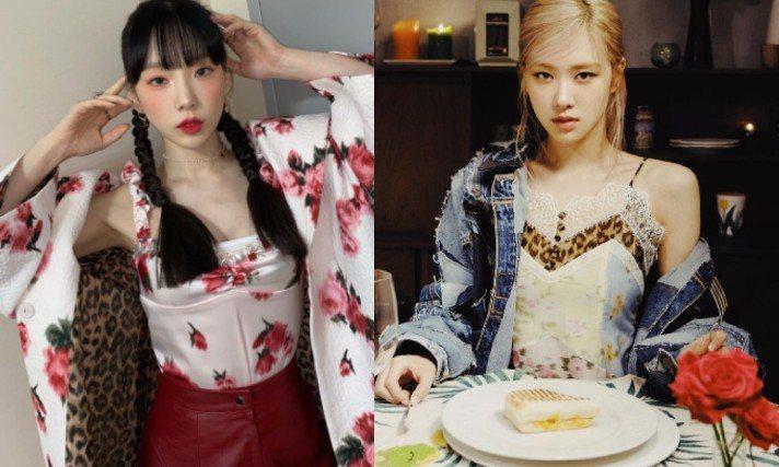 太妍、ROSE最近都以豹紋單品穿搭出性感狂野風。圖/摘自IG
