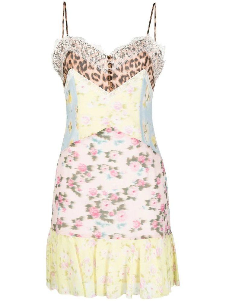 豹紋蕾絲印花洋裝,47,800元。圖/Blumarine提供