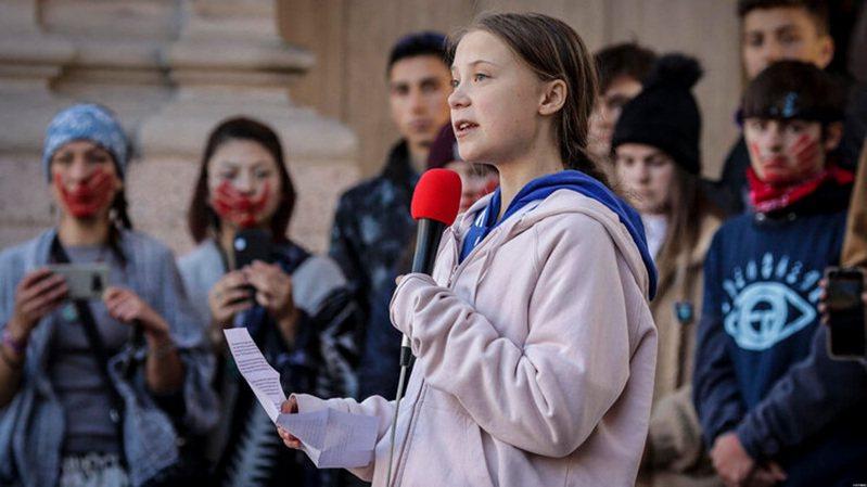 童貝里走訪世界各地演說,急切呼籲全球重視氣候危機。圖/捷傑提供
